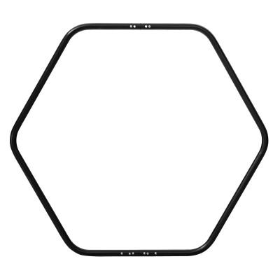 Hexagone aérien divisible en deux pièces